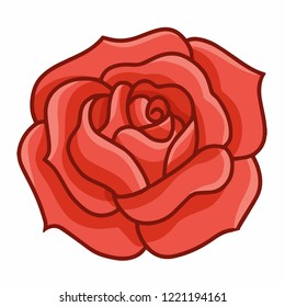 Funny and elegant red rose - vector
