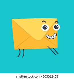 funny  envelope - concept of email.
