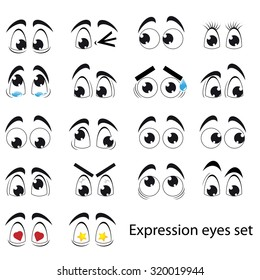 Funny expression eyes