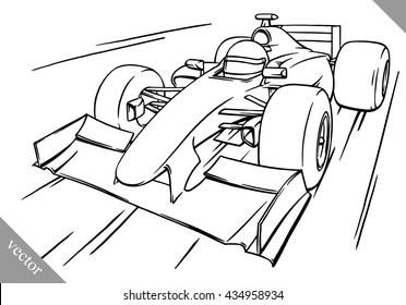 Formula One Car Drawing Images Stock Photos Vectors Shutterstock