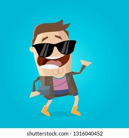 funny festival visitor illustration