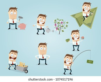 funny financial businessman collection