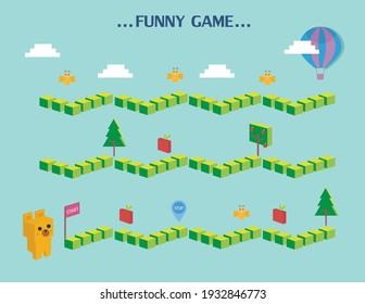 Funny frame,Board games, Vector illustrations
