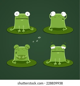 Funny frogs set one