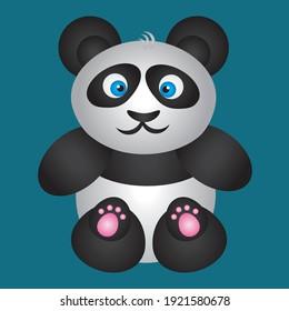 Funny game and cartoon panda characters