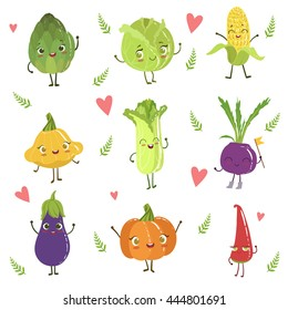Funny Girly Design Vegetables Collection
