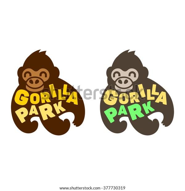 eb30cf531 Funny Gorilla Monkey Vector Head Face Logo icon design illustration isolated  on white