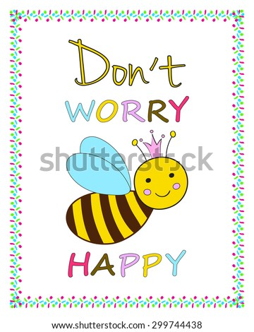 Funny Greeting Card Template Smiling Queen Stock Vector Royalty
