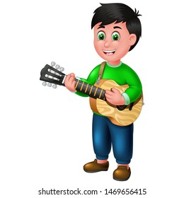 Funny Guitarist Cartoon For Your Design