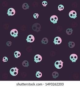 Funny Halloween  art, vector Illustration