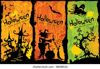 Funny Halloween background