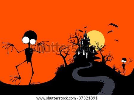 funny halloween background stock vector royalty free 37321891