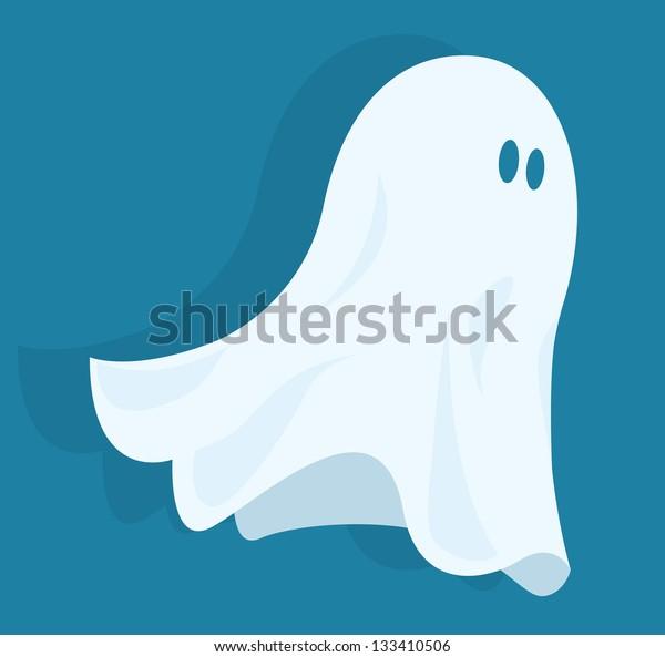 Funny halloween ghost