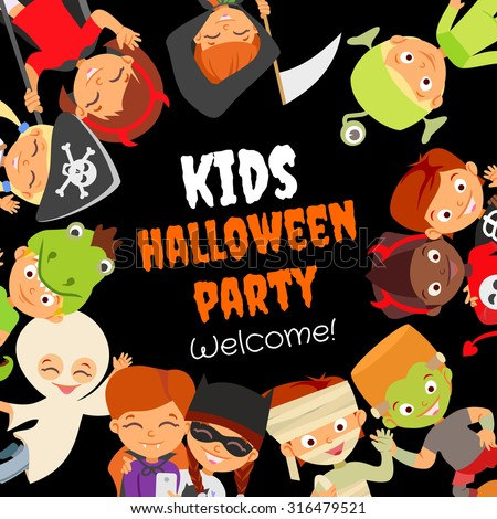 funny halloween party design concept happy stock vector royalty