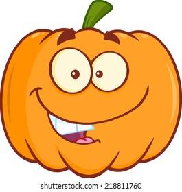 Funny Halloween Pumpkin Mascot Character
