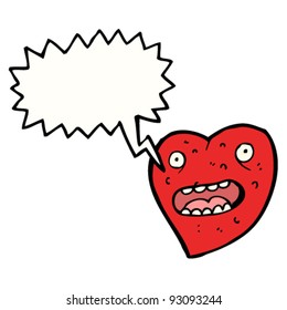 funny heart with speech bubble
