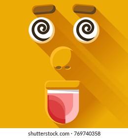 Funny hypnotized yellow emotions