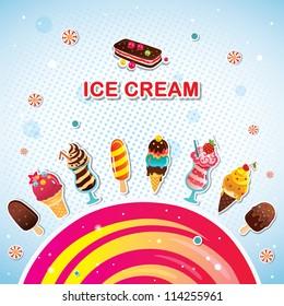 Funny ice cream background