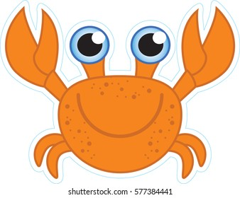 funny illustration of a crab
