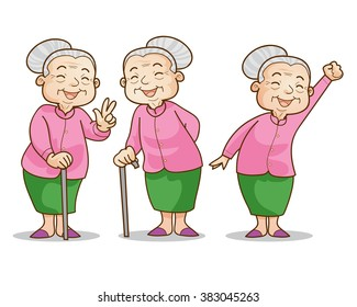 Cartoon Grandma Images Stock Photos Amp Vectors Shutterstock