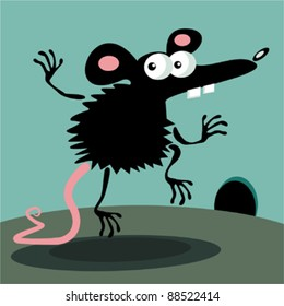 Funny jumping mouse