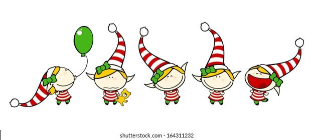 Funny kids - elf girl