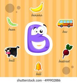 Funny letter B