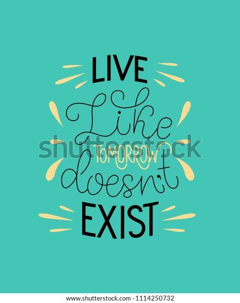 Funny Lettering Illustration Blue Background Live Stock Vector