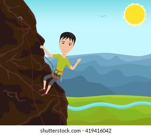 Mountain Climbing Cartoon Images Stock Photos Vectors Shutterstock