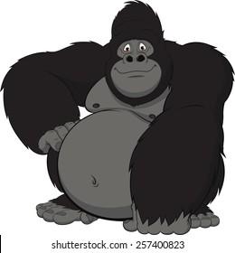 cartoon gorilla images stock photos vectors 10 off shutterstock rh shutterstock com gorilla clipart logo gorilla clipart black and white