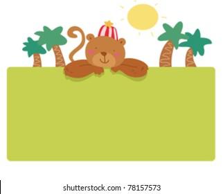 funny monkey frame page