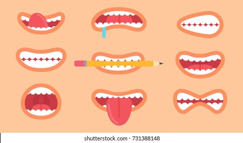 Mouth Clipart Images Stock Photos Vectors Shutterstock Lip mouth smile , smiling heart png clipart. https www shutterstock com image vector funny mouth collection icons different emoticons 731388148