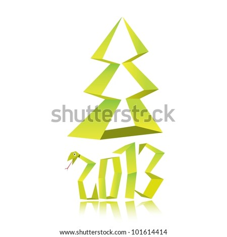 Funny New Years Eve Origami Style Stock Vector (Royalty Free ...