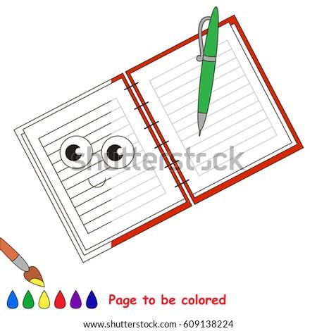 Funny Notebook Coloring Book Educate Preschool Stock Vector (Royalty ...