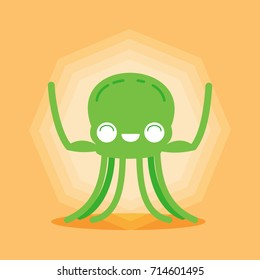 funny octopus character