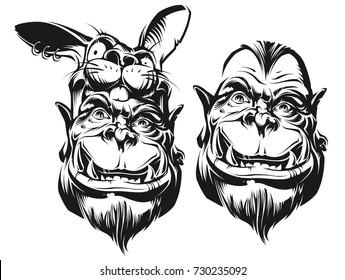Funny ogre