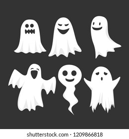 Funny pack of halloween ghosts.