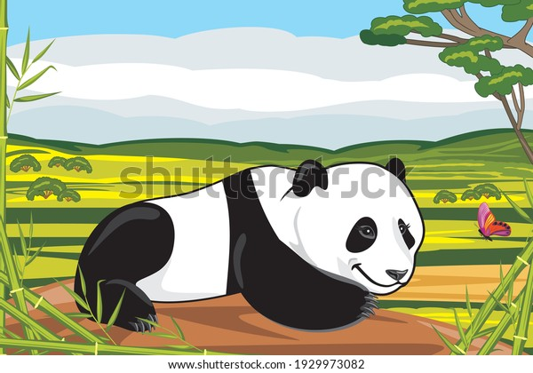 funny-panda-plays-butterfly-vector-600w-