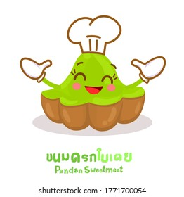 "Funny Pandan Sweetmeat in Thai Language it mean ""Pandan Sweetmeat"""