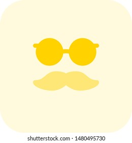 Funny party mask with dandy mustache
