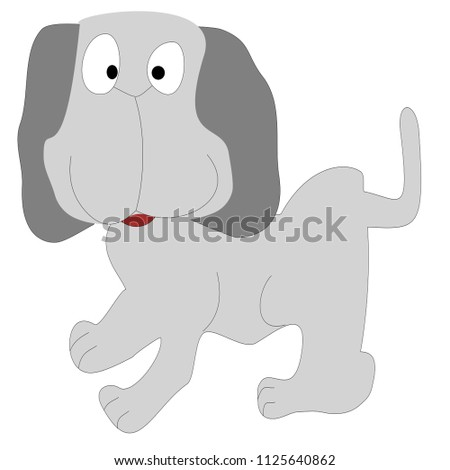 Funny Pet Dog Looking Surprised Vector