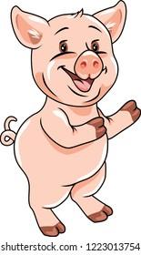 Funny piggy. Vector