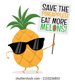 funny pineapple demonstrator wants people to eat more melons