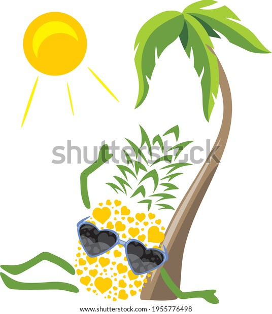 funny-pineapple-sunglasses-sunbathing-un
