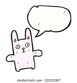 funny pink rabbit cartoon