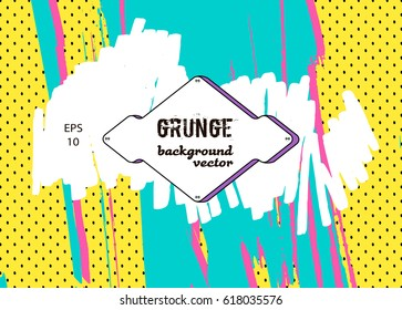 Funny pop cover. Abstract background for brochure, flyer. Minimalistic design. Creative concept. Vector illustration EPS10.