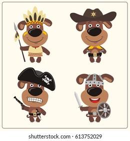 14240e403bd Funny Teddy Bear Costume Viking American Stock Vector (Royalty Free ...