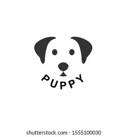 Funny Puppy Icon Logo Vector Illustration