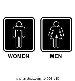 Funny Restroom Sign / vector