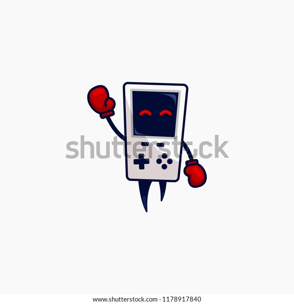 Funny Retro Gaming Gamer Device Console Stock Vector (Royalty Free